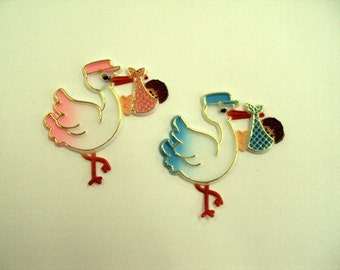 24 Stork Favors Pink or Blue