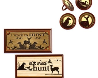 Hunting Cake Decorations with 12 Hunting Rings