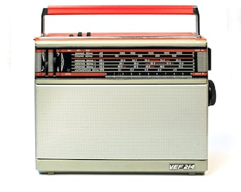 VEF Soviet vintage portable FM radio