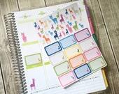 The Llama Stickers! Set of 44, for your Erin Condren Life Planner, Plum Planner,  Filoflax, calendar or scrapbook!