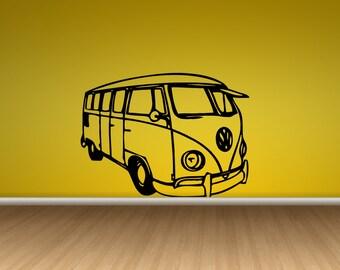 einzigartige artikel zum thema vw bus aufkleber etsy. Black Bedroom Furniture Sets. Home Design Ideas
