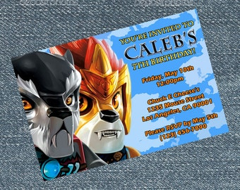 Legends of Chima Invitations - personalized for your birthday