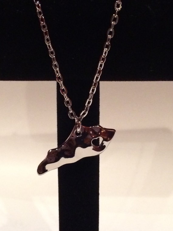 silver sted kentucky state necklace w by