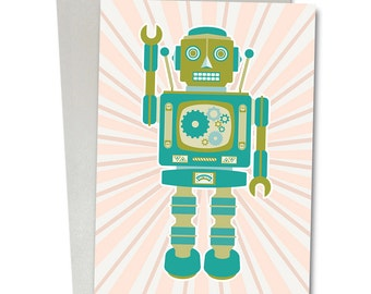 Robot series birthday/greetings card