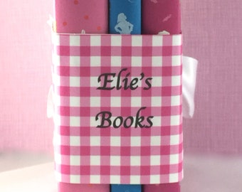 Personalized book gift of 3 new children's classics, custom book covers, pink, instant library, girl gift, children's books, shower
