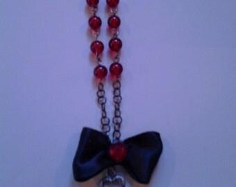 Key & Bow Long Necklace