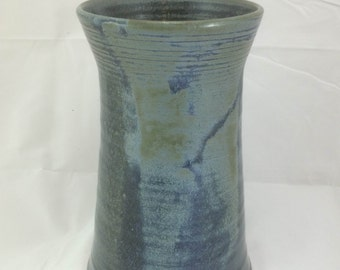 Bunting Blue Hand Thrown Pottery Vase