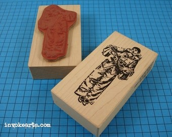 Small Pierrot Stamp / Invoke Arts Collage Rubber Stamps