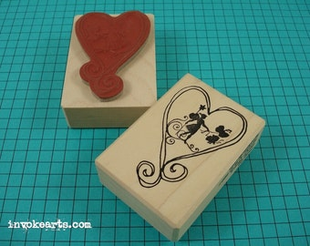 Faerie Heart Stamp / Invoke Arts Collage Rubber Stamps