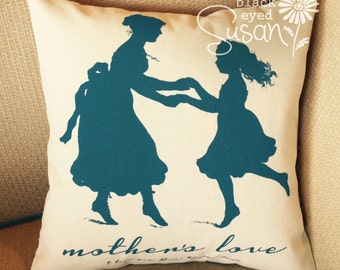 """Mother Daughter (Mother's Love) Pillow Cover 