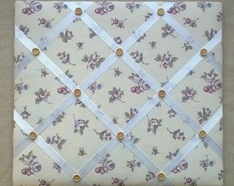 Memo/Pin Board in Heather Rosebud fabric - Medium