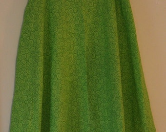 Modest Green Skirt