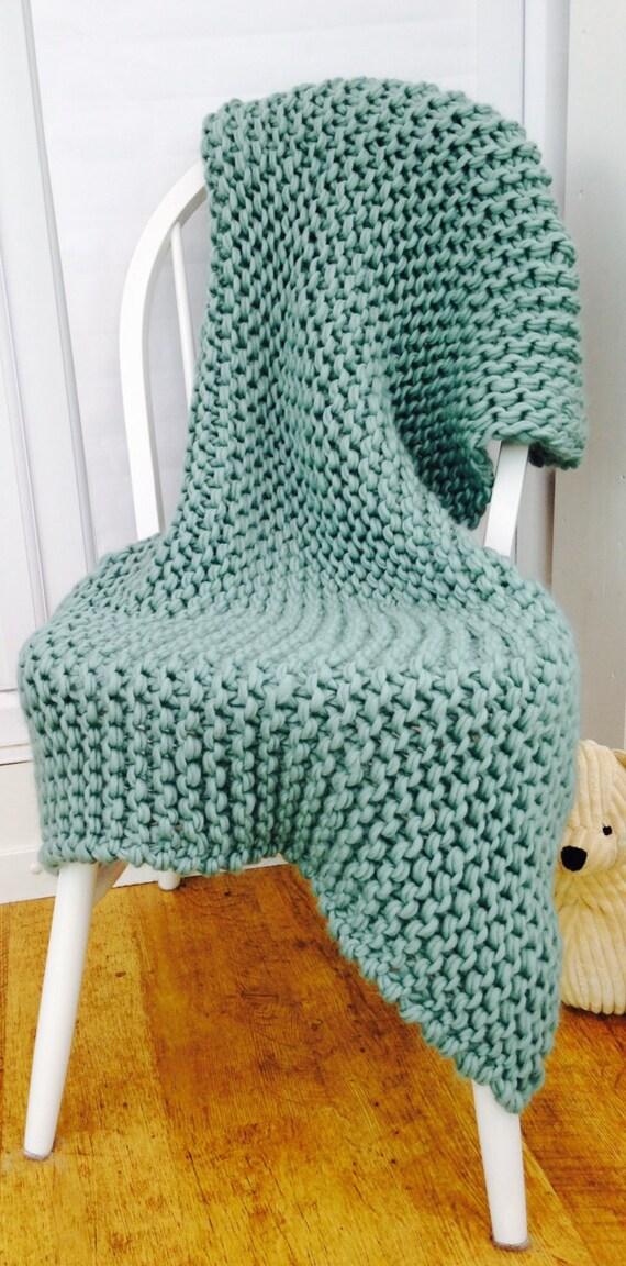 Knitting Pattern Kits : Throw KNITTING KIT. Luxury Super Chunky DIY Giant Throw ...