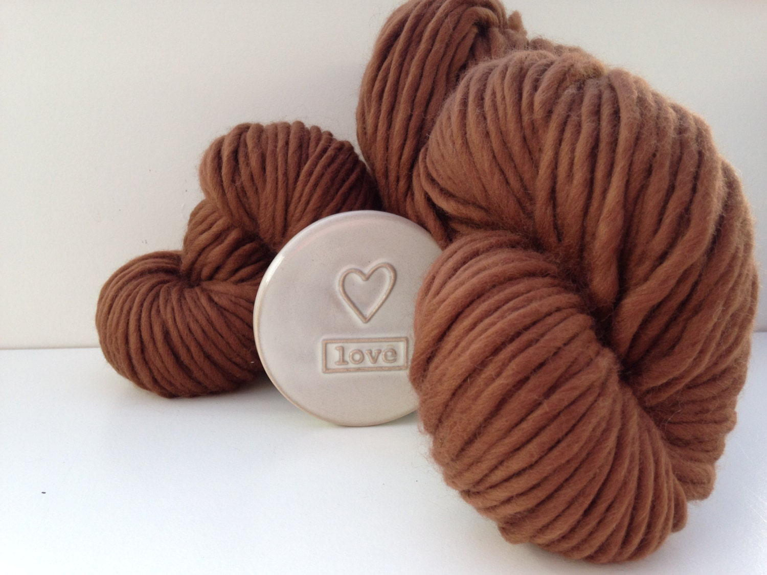 Super Bulky Yarn : Bulky merino yarn. Chocolate Brown super by WoolCoutureCompany