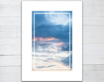 Photo print - Sky and blue clouds