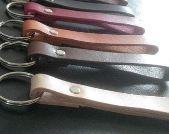 Hand made Leather belt loop Keyring