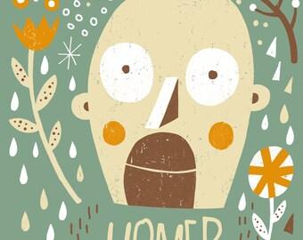 Homer Simpson. Art print