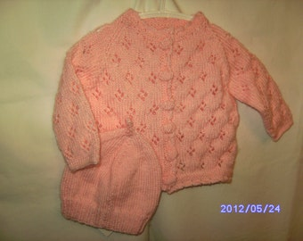 6 - 9 months cardigan pink Lacy