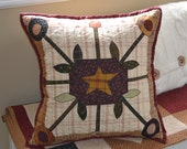 The 'Bundling Board' Primitive Folk Art Pillow