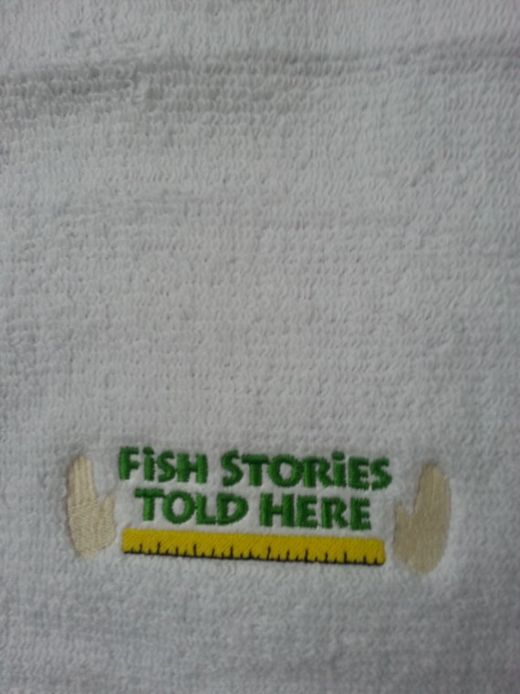 Embroidered Fishing Towel