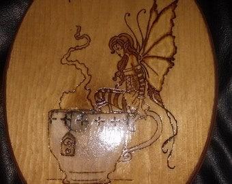 Fairy tea Wood Plaque