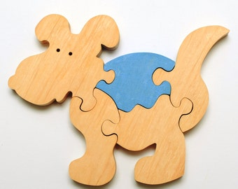 Wooden Dog puzzle for childrens.