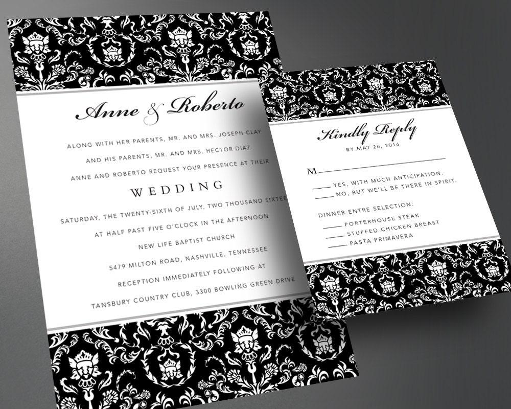 Wedding invitation pdf printable wedding invitation diy for Digital wedding invitations
