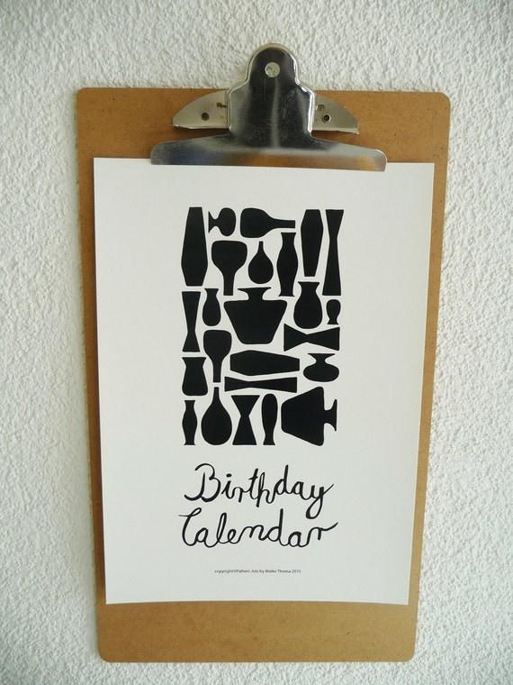 Diy Birthday Calendar Template : Perpetual birthday calendardiyprintable pdf