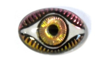 13MM X 18MM Mysterious Eye Fuchsia/Lime Cabochon