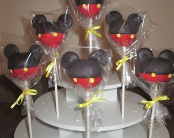 Mickey Mouse Clubhouse Cake Pops