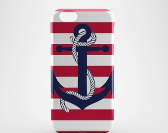 Naval Anchor Nautical Phone case,  iPhone X Case, iPhone 8 case,  iPhone 6s,  iPhone 7 Plus, IPhone SE, Galaxy S8 case, Phone cover, SS115a