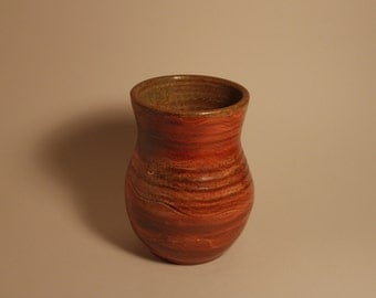 Wood fired stoneware vase