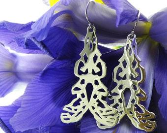Spanish Filigree Earrings, Silver Drop Earrings, Silver Statement Earrings, Filigree Earrings, Gift for Her, Dangle Drop