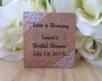 tea gifts bridal shower decor tea party teapots bridal burlap tea