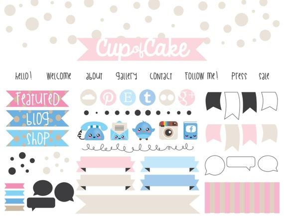 Blog design kit blog design elements branding kit for Blog design ideas