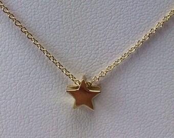 Gold vermeil star necklace