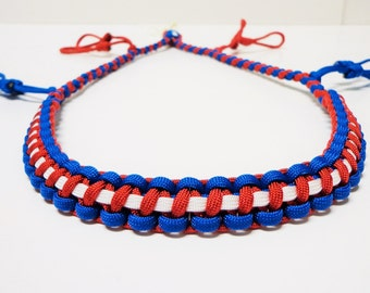 Custom Paracord Duck Call Lanyard Red White and Blue