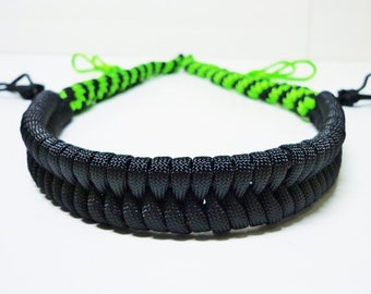 Custom Paracord Goose/Duck Call Lanyard Black and Neon Green