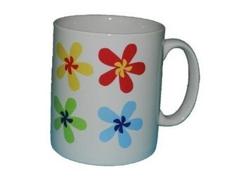Colourful Lazy Daisy Design Mug