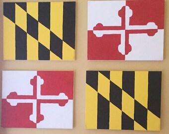 Maryland Flag Canvas Set