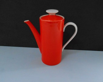 Retro Orange & White Coffee Pot 1960's Made in Japan  #10039