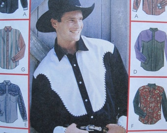 UNCUT Men's Shirts - McCalls Pattern 2453
