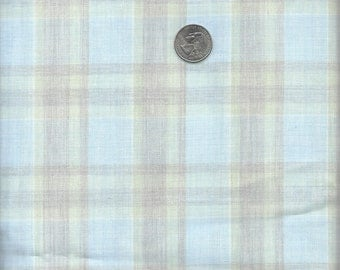 Blue and Brown Plaid Fabric