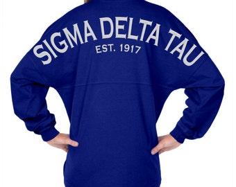 Sigma Delta Tau Est. 1917 - Classic Spirit Jersey (with Crest) J047012394C