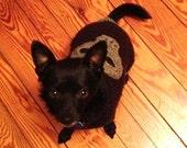 Skippy's Fantastic Black Skull Dog Sweater