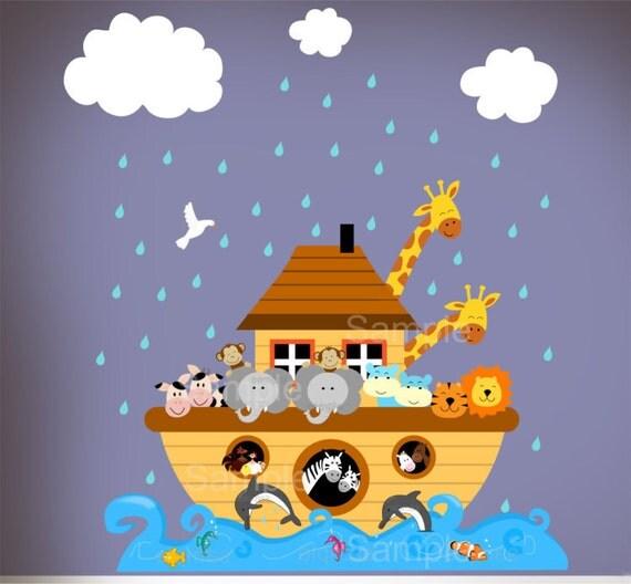 Items Similar To Children Noahs Ark Wall Nursery Decal Sticker Noahs Ark Playroom Bedroom