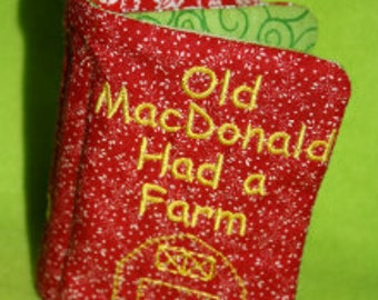 Old MacDonald's Farm Softbook Embroidery Machine Design for the 5x7 hoop