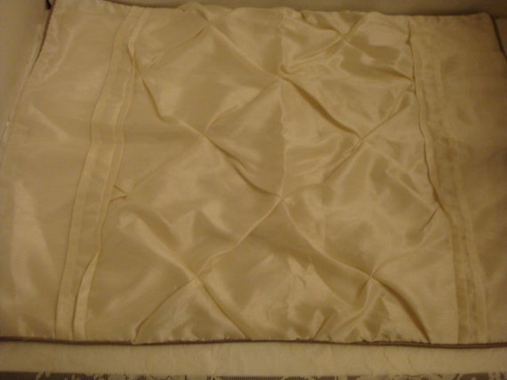 vintage decorative pinch pleated cream white pillow sham set