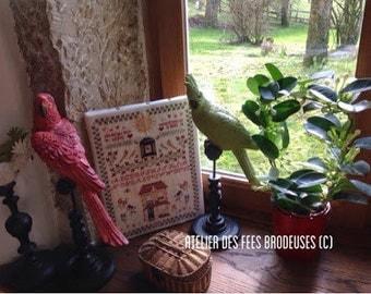 Marquoir aux perruches