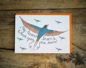 Soaring Swallow Valentine's card